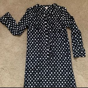 Black and white polka dot  high low dress